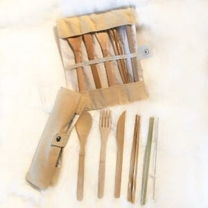 Bamboo Cutlery set, IndigenARTSY, Indigenous Artists, Indigenous Arts Marketplace, Indigenous Arts Collective of Canada, Pass The Feather, First Nations, Indigenous Art, Aboriginal Art, Indigenous Art Directory