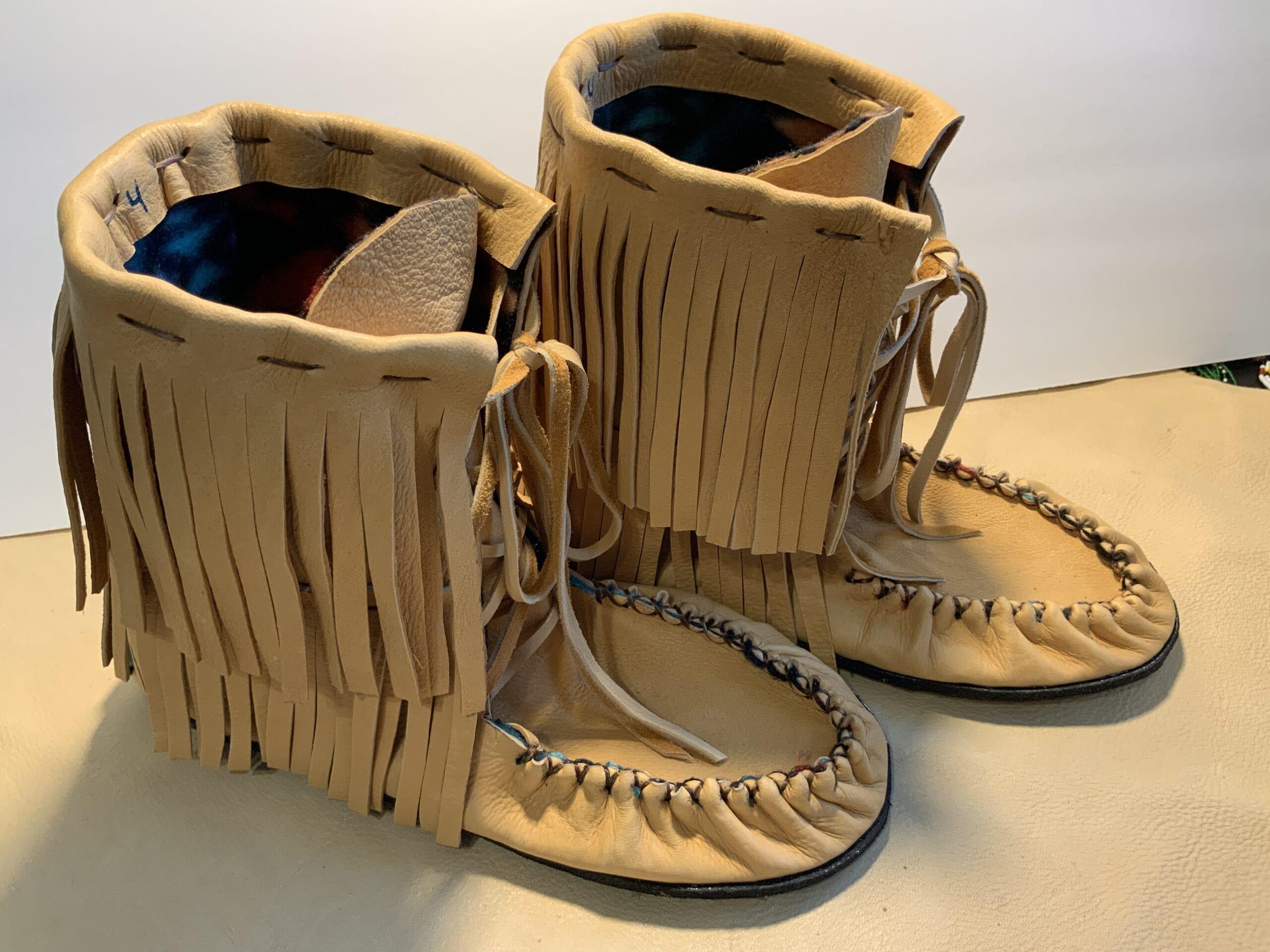 custom made moccasins, susan hill, hills creations,