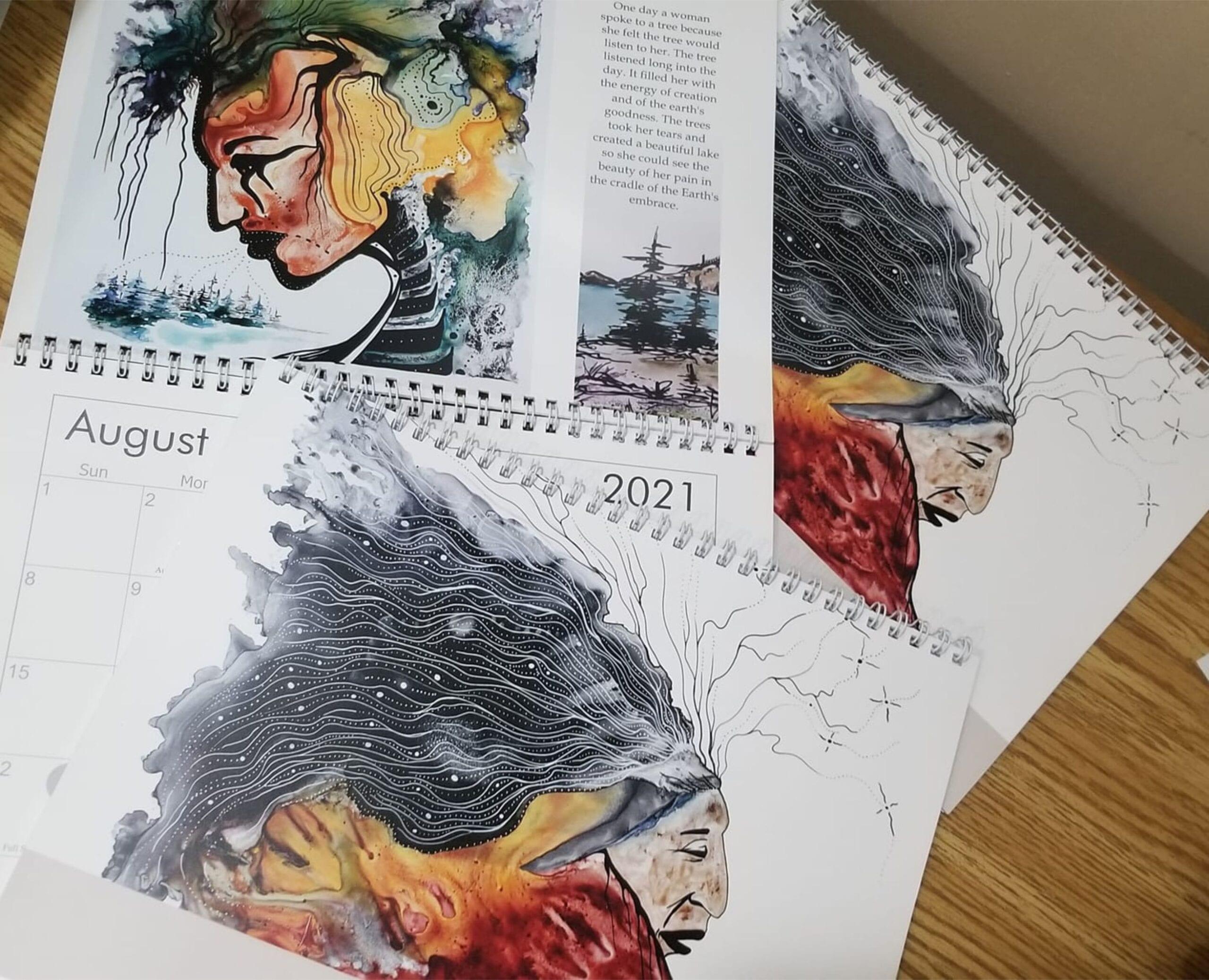Indigenous art calendars
