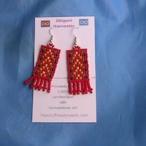 metis sash beaded earrings