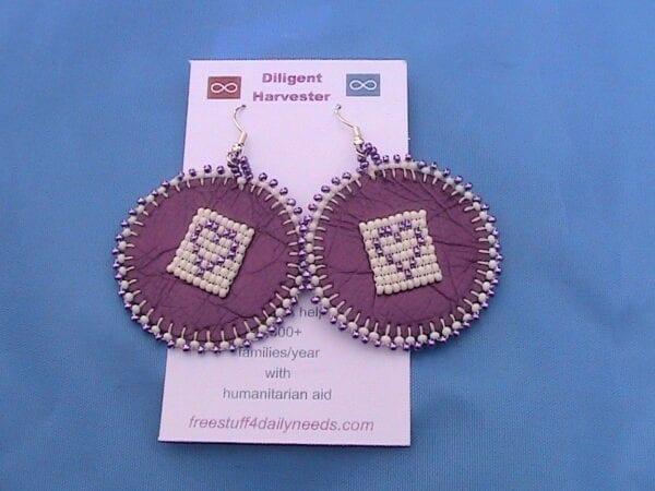 i love purple beaded earrings
