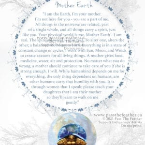 Poster, Mother Earth, pass the feather, passthefeather.ca
