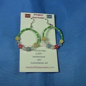 stemmed spring flower earrings