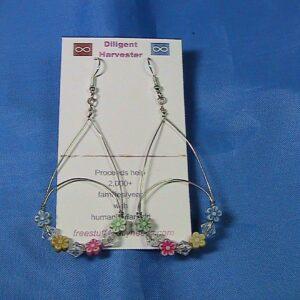 floating flowers earrings