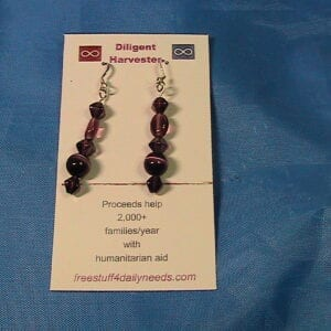 beads of purple earrings