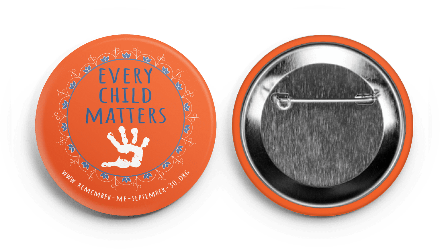 every child matters, residential school, remember me, september 30, orange shirt day, button